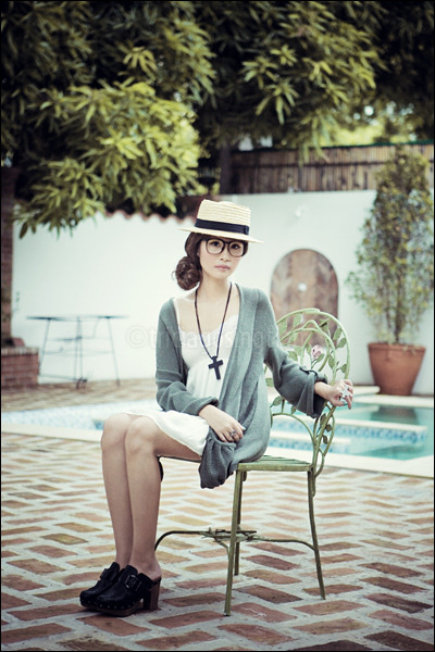green Topshop cardigan - white Topshop dress - black cross Forever 21 necklace