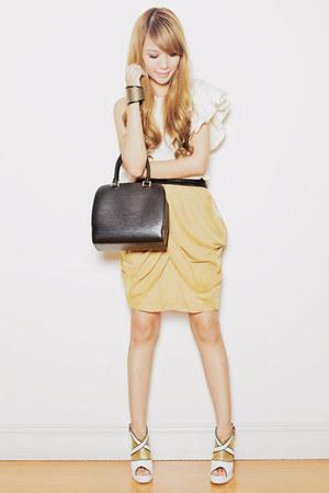 mustard MGP skirt - off white tracyeinny top