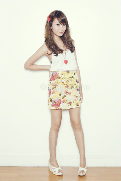 white wedges Celine shoes - white Zara top - yellow sunflower Poisonberry skirt