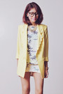 Light-blue-romwe-top-light-yellow-tricia-gosingtian-for-romwe-blazer
