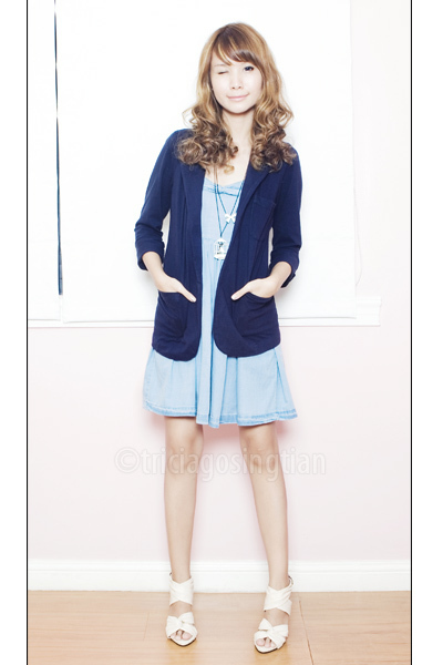 Markati Palazzo The Podium blazer - Topshop dress - Substance shoes - Just G nec