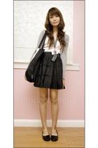 Topshop top - Mphosis skirt - Zara jacket - Greenhills shoes - Topshop accessori