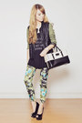 Choies-jacket-printed-emoda-top-floral-print-romwe-pants-charriol-watch
