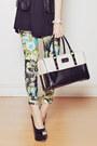Choies-jacket-printed-emoda-top-floral-print-romwe-pants-charriol-watch