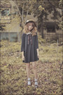 Gray-ladress-by-simone-dress-light-brown-yrys-hat-off-white-h-m-socks-dark