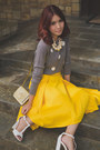 Heather-gray-gap-sweater-gold-kate-spade-bag-mustard-apartment-8-skirt