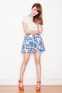Lace-just-g-top-tropical-print-just-g-skirt-just-g-necklace