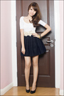 White-zara-top-mphosis-skirt-aldo-shoes-from-singapore-belt