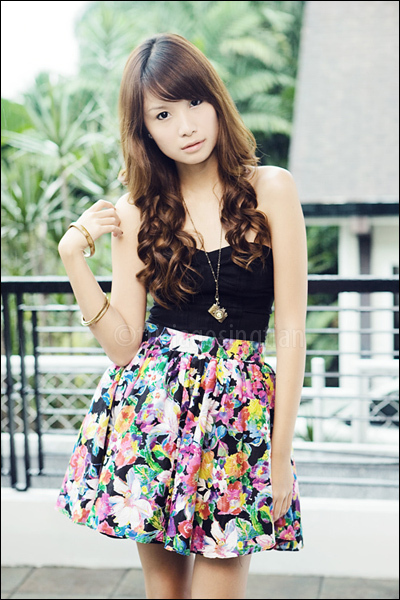 black maldita shoes - gold camera necklace - Poisonberry skirt