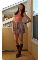 BCBGeneration skirt - Clark boots