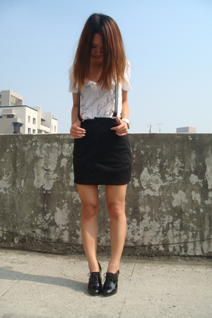 black strawberry skirt