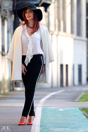 white Zara shirt - black Zara pants