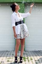 Zara dress - Steve Madden sandals - Mango belt