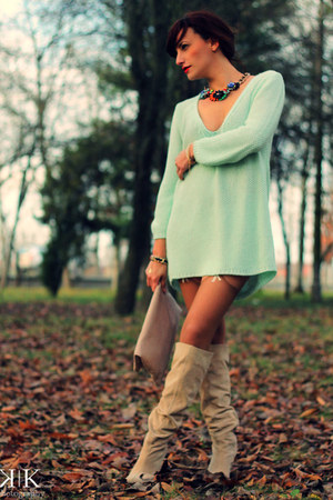 aquamarine Zara sweater - peach Accessorize bag