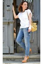 Zara jeans - Zara shirt - Furla bag - Pour La Victoire pumps