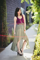 olive green MinkPink skirt