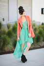 Aquamarine-foreign-exchange-dress-coral-oasapcom-blazer