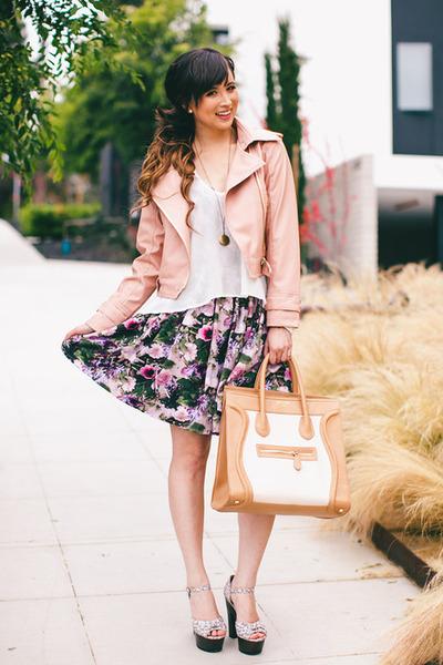 light pink Ebay jacket - white Lovers  Friends top
