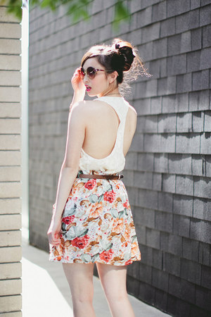 ruby red MinkPink skirt