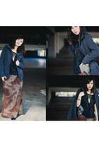 Just Lov3 Boutique top - Boutique in Paris boots - brown vintage dress