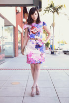 pink H&M Fashion Star dress - off white Steve Madden heels