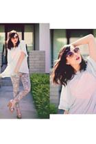 bubble gum Insight jeans - light blue wildfox couture top