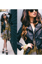 black nastygal jacket - mustard Insight romper
