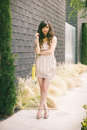 nude keepsake dress - yellow Leoluca Handbags bag