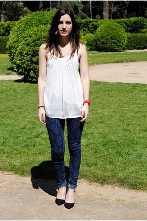Forever 21 shirt - BLANCO jeans - Zara heels