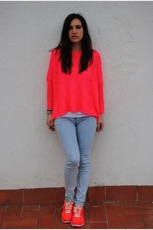 Zara jeans - Zara sweater - nike sneakers