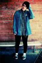 navy Vans shoes - blue Levis jacket - dark green Rob Paynter blouse