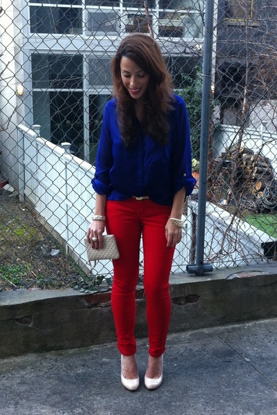 H&m Blouse Skinny Jeans