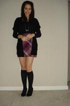 063f7733dccc5 Red H&M Tights, Navy H&M Blazers, Black Deena & Ozzy Heels, Black ...