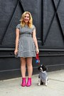 Hot-pink-asos-boots-black-kate-spade-dress