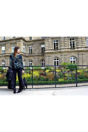 black Chelsea Crew Black Label boots - black Zara jeans - black H&M purse