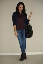 61e95d65a3374 black Lucky Brand boots - blue BDG jeans - navy H&M jacket - black Nila  Anthony