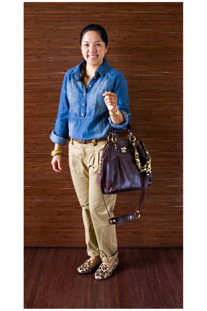 Wanted loafers - Forever 21 shirt - coach bag - calvin klein pants