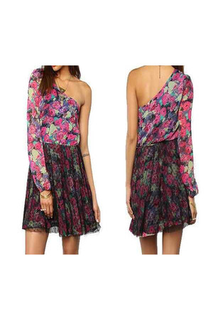 one shoulder lucca couture dress - lucca couture blouse