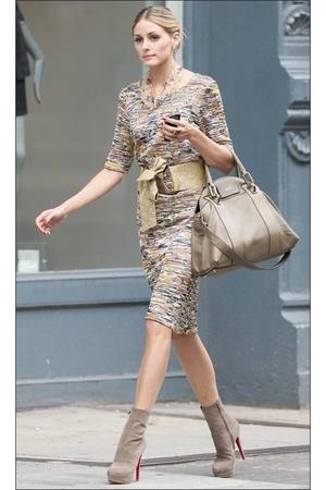 dress - beige shoes - beige accessories