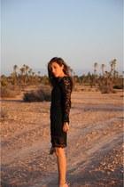 lace Vero Moda dress - vintage bag - Zara sandals