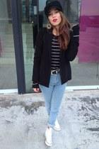 blue American Apparel jeans - black American Apparel blazer