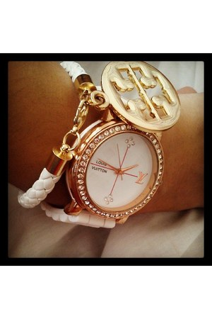tory burch bracelet - Louis Vuitton watch