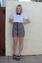 cotton on t-shirt - handmade skirt - shoes