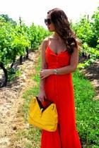 winners bag - carrot orange Forever 21 dress