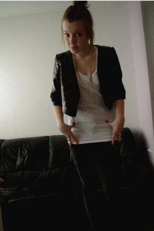 H&M jacket - Topshop jeans - Topshop top