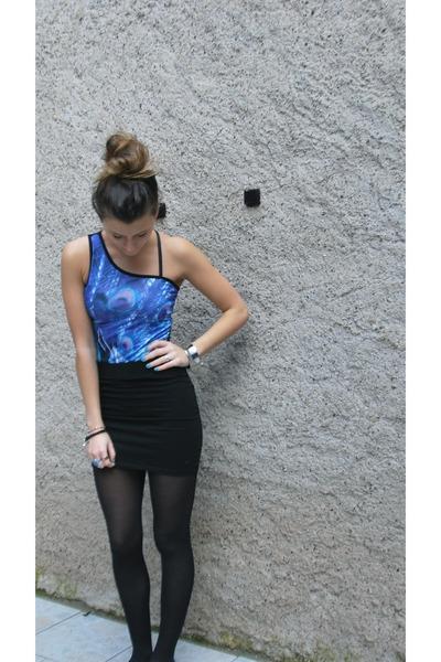asos bodysuit - H&M skirt