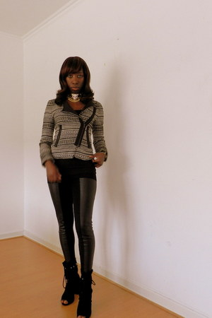 Zara jacket - H&M tights