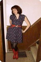 Tulle dress - Gabes belt - Frye boots