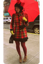Betsey Johnson coat - 8020 shoes - modcloth tights - assembled by me hat - nick