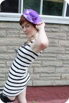 gold Aldo necklace - purple Melissa shoes - white H&M dress
